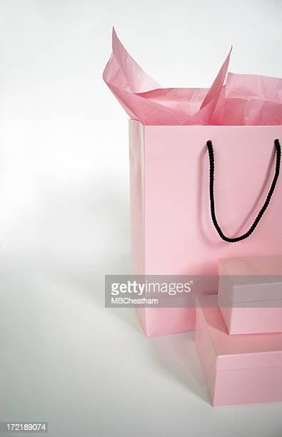 Rosa Tasche & Boxen