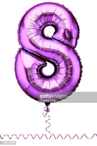 Pink balloon in the shape of a number eight