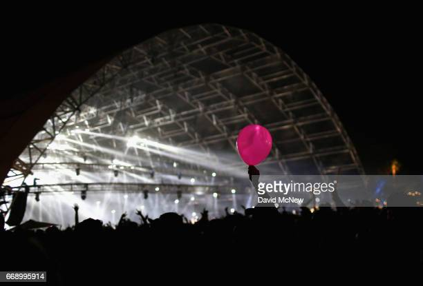 Pink balloon is seen outside the Sahara Tent during day 2 of the Coachella Valley Music And Arts Festival at the Empire Polo Club on April 15 2017 in...
