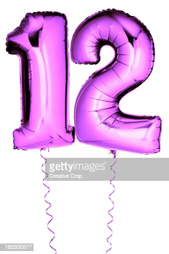Image result for the number 12 balloons\