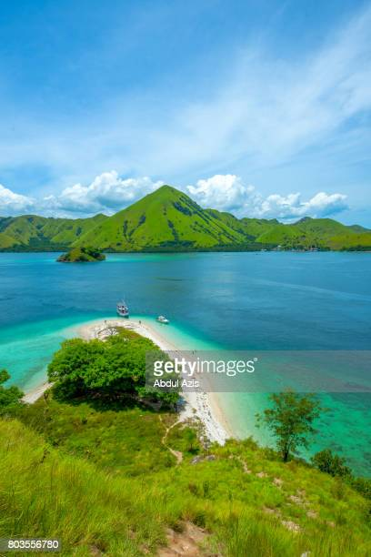 Pink Beach from Peak - Komodo National Park East Nusa Tenggara - Indonesia