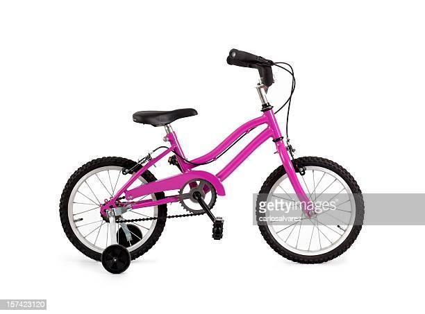 Rosa bicicletta w/esterni Clipping path