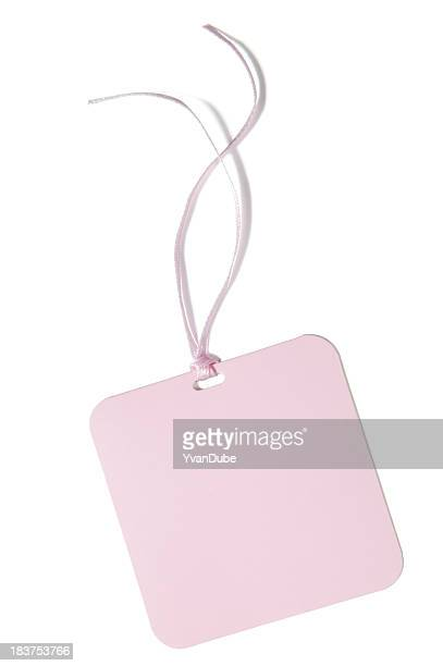 pink blank gift or price tag(w/clipping path)