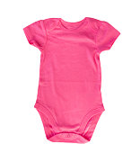Pink body child girl clothes isolated empty space blank.