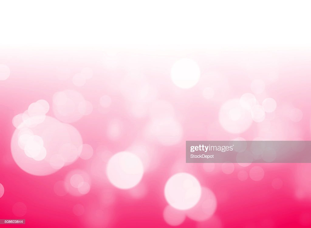 Pink Bokeh Lights on a White Background : Stock Photo