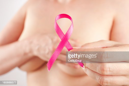 Pink breast cancer ribbon : Stock Photo
