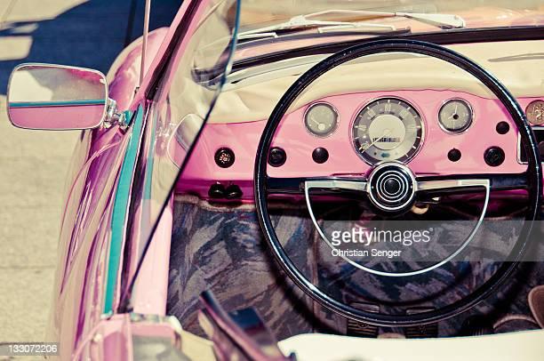 Pink car dashboard