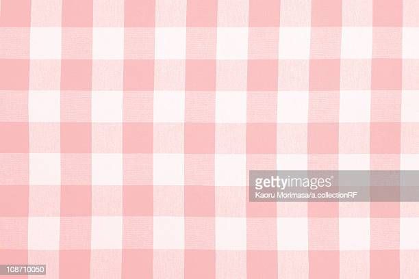 Pink Checked Gingham Cloth