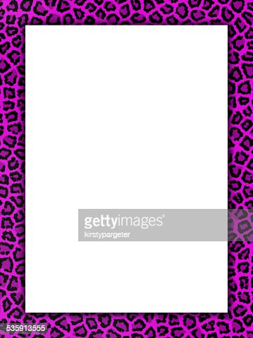 Pink cheetah print border : Stock Photo