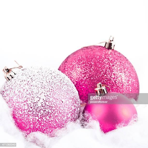 Pink Weihnachten Kugeln