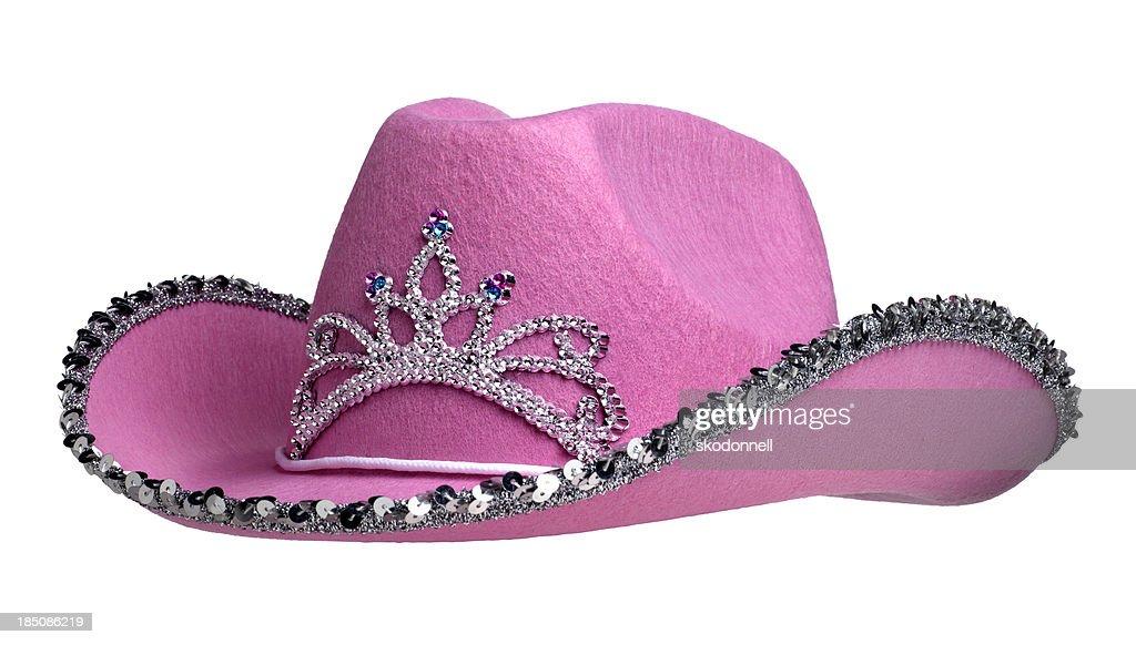 Pink Cowboy Hat on White