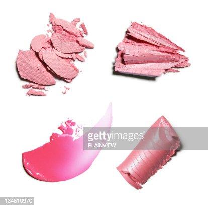 ピンクのクラッシュメイクアップ