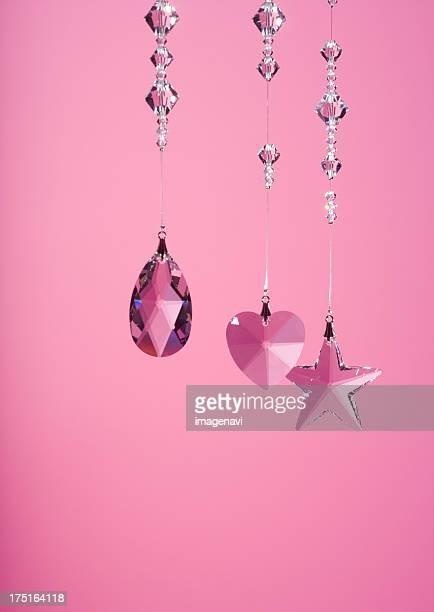 Pink crystal glasses