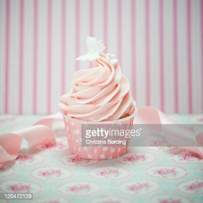 Pink cupcake : Foto stock