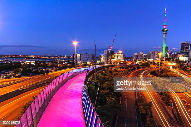 Pink Cycleway and Walkway in Auckland