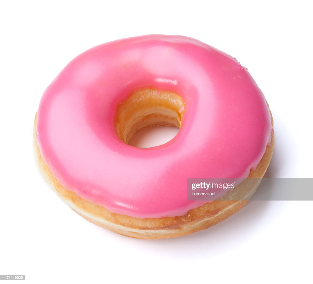 pink donut clipping path stock photo getty images