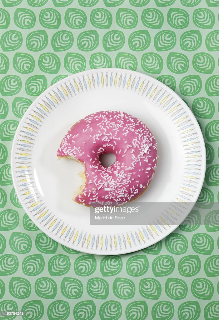 pink donut : Stock Photo