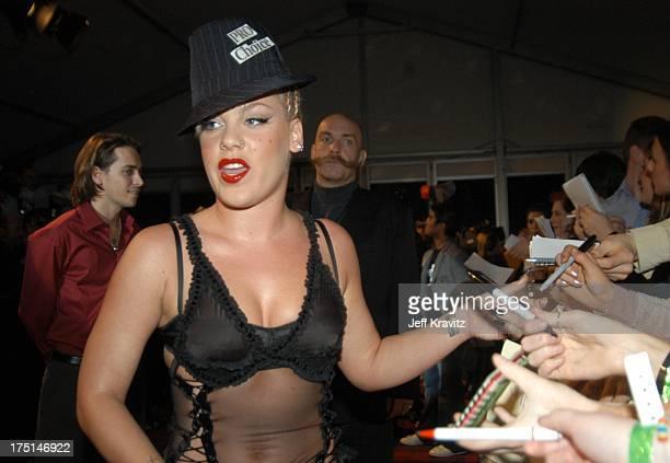 Pink during MTV Europe Music Awards 2003 Arrivals at Ocean Terminal Arena in Edinburgh Scotland