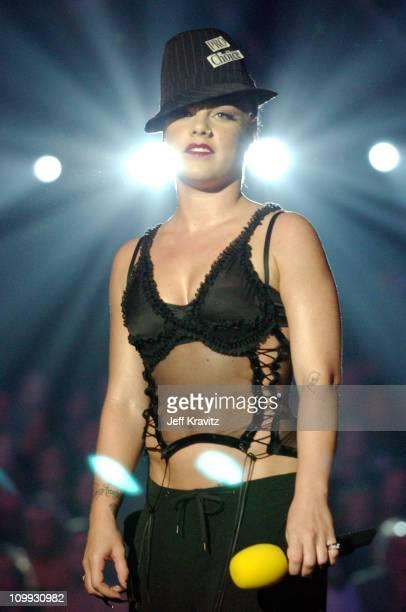 Pink during MTV Europe Music Awards 2003 Show at Ocean Terminal Arena in Edinburgh Scotland