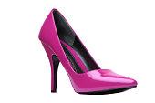 Pink Elegant Shoe Isolated On White