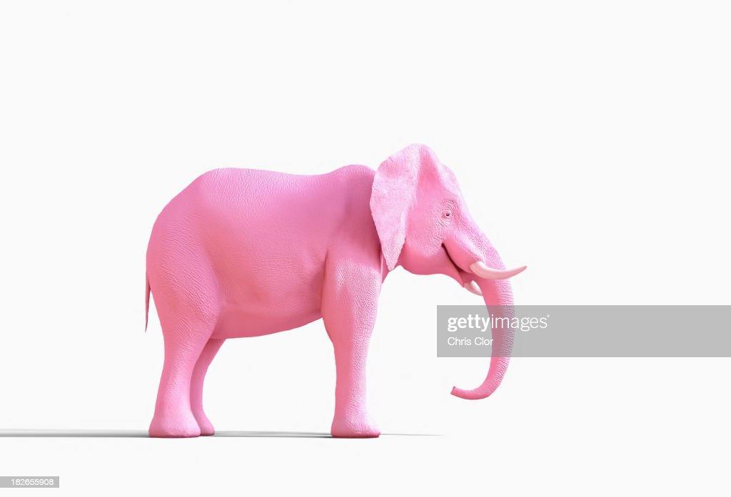 Pink elephant statue : Stock Photo