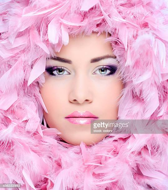 pink feather