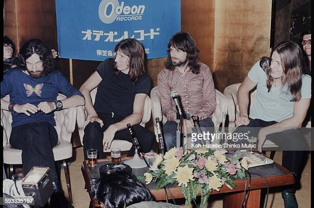 Pink Floyd at Press conference Tokyo August 1971