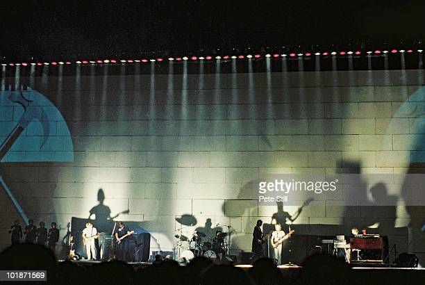 Pink Floyd perform on stage at Earls Court Arena on 'The Wall' tour on August 7th 1980 in London England