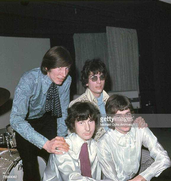 1967 Pink Floyd pose for photographers at a press conference on March 4 1967 in London England