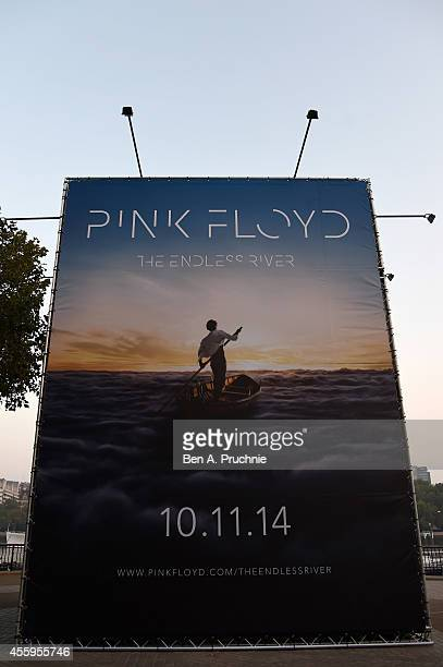 Pink Floyd reveal album details and artwork for new album 'The Endless River' on South Bank along the Thames on September 23 2014 in London England...