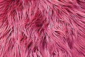 Close up of pink fluffy fabric