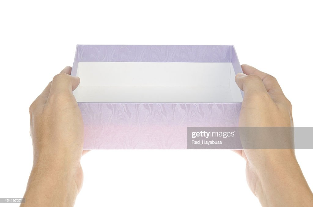 Pink Gift Box on hand : Stock Photo