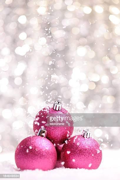 Rosa Glitzerndes Weihnachts-Bälle