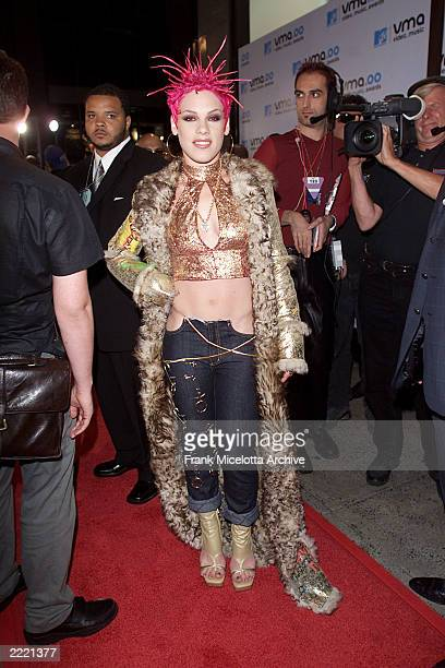 Pink in Baby Phat Jeans and DG jacket at MTV Video Music Awards 2000 held at Radio City Music Hall September 7 2000 Photo by Frank Micelotta/Getty...