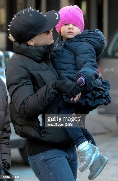 Pink is seen with her daughter Willow Sage Hart on December 12 2013 in New York City