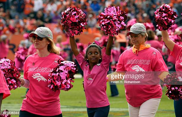 Pink is the color on the field as October is breast cancer awareness month The Denver Broncos played the Minnesota Vikings at Sports Authority Field...