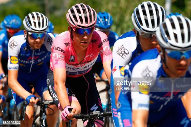 Pink jersey Luxembourg's Bob Jungels of team QuickStep rides in the pack during the 9th stage of the 100th Giro d'Italia Tour of Italy cycling race...