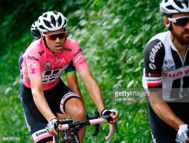Pink Jersey Netherlands' Tom Dumoulin of team Sunweb rides during the 11th stage of the 100th Giro d'Italia Tour of Italy cycling race from Florence...