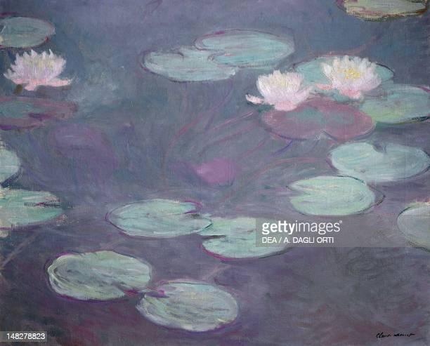 Pink lilies 18971899 by Claude Monet oil on canvas 81x100 cm Rome Galleria Nazionale D'Arte Moderna