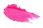 Pink lipstick smears