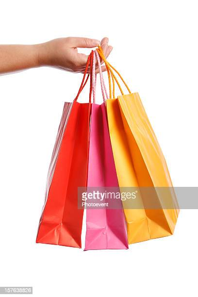 Pink, orange, and red beautiful shopping bags