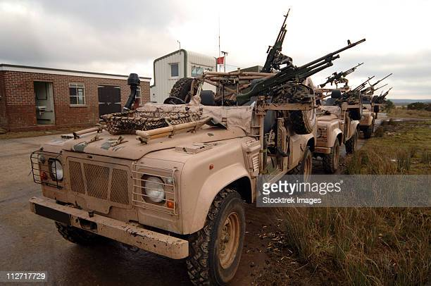 A Pink Panther Land Rover desert patrol vehicle of the British Army.