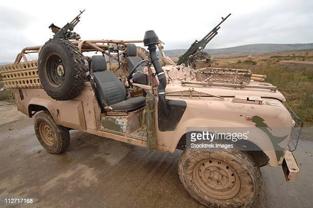 A Pink Panther Land Rover desert patrol vehicle.