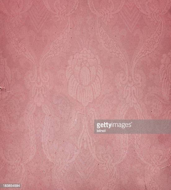 pink paper with floral pattern