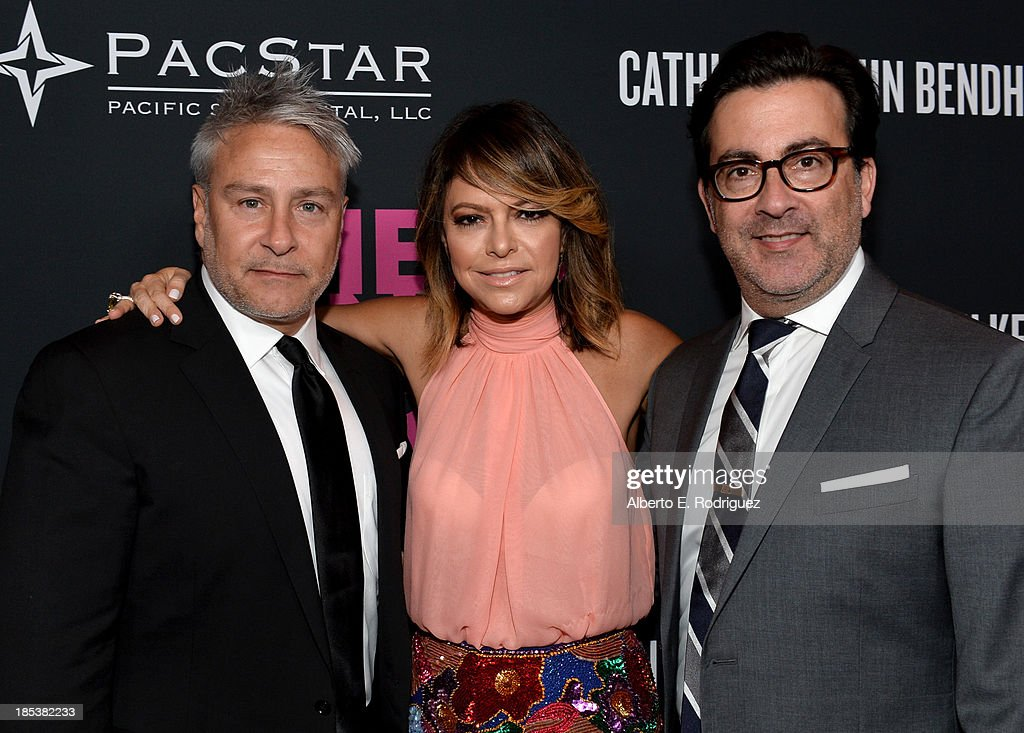 Pink Party founder Elyse Walker and designers Ken Kaufman and Isaac Franco of KAUFMANFRANCO attend Elyse Walker Presents The Pink Party 2013 hosted...