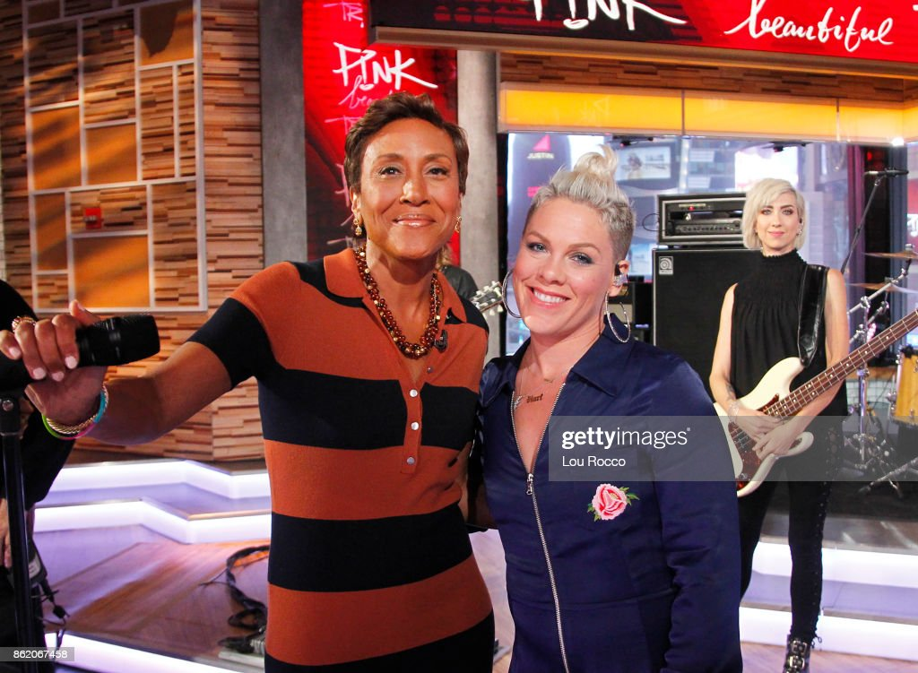 AMERICA - Pink performs live on 'Good Morning America,' Monday, October 16, 2017, airing on the ABC Television Network. ROBIN