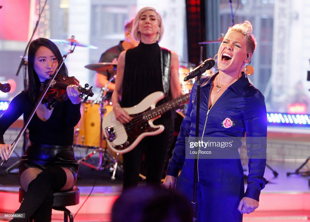AMERICA - Pink performs live on 'Good Morning America,' Monday, October 16, 2017, airing on the ABC Television Network. PINK