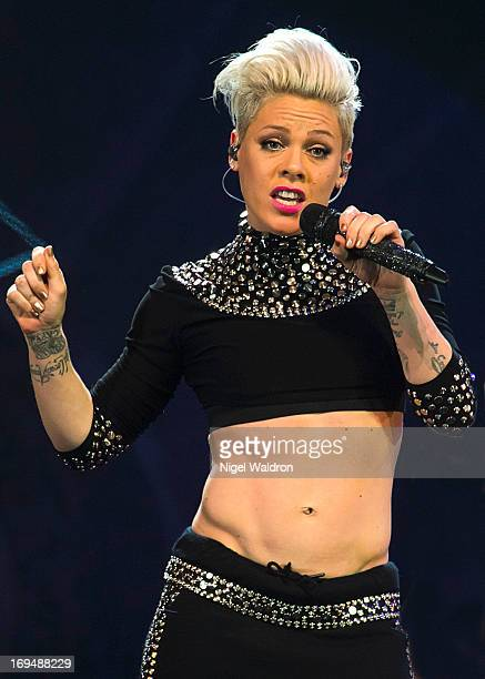 Pink performs on stage at Telenor Arena during The Truth About Love Concert Tour 2013 at on May 25 2013 in Oslo Norway