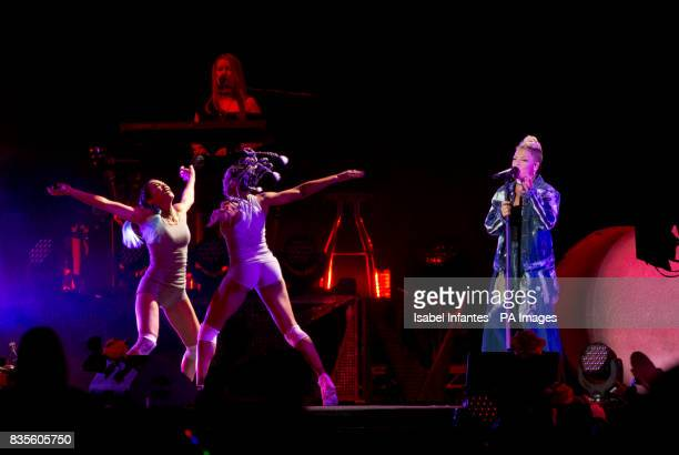 Pink performs on the Supervene Stage at the V Festival in Hylands Park Chelmsford