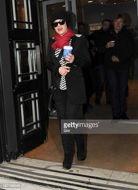 Pink pictured at BBC radio 2 on December 6 2012 in London England